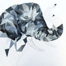 эскиз татуировка слон
