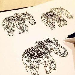фото, эскиз слон