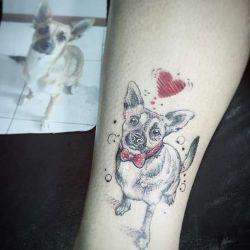 Татуировка собака фото