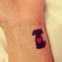 фотография татуировка собака