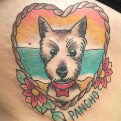 Татуировка собака фотография