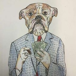 Татуировка собака эскиз