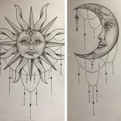 Татуировка солнце фото, эскиз