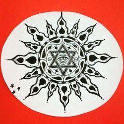фото, эскиз татуировка солнце