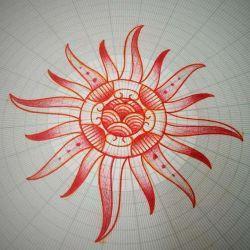 эскиз солнце
