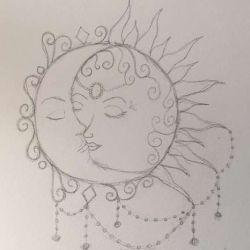 солнце эскиз