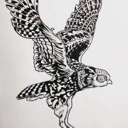 Татуировка сова фото, эскиз