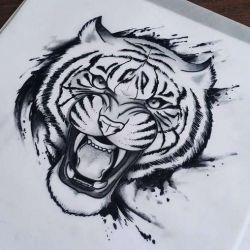 Татуировка тигр фото, эскиз
