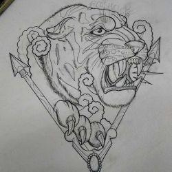 эскиз тигр