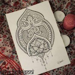 эскиз татуировка узор