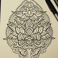 Татуировка узор эскиз