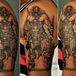 фото татуировка воин