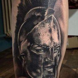 фотография татуировка воин
