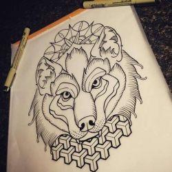 Татуировка волк фото, эскиз