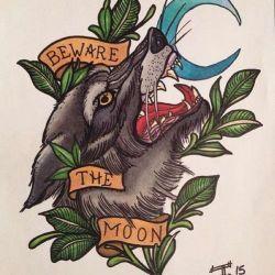 Татуировка волк эскиз
