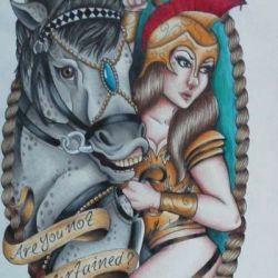 эскиз татуировки гладиаторов