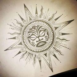 Татуировки майя эскиз