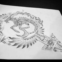Татуировки майя фото, эскиз