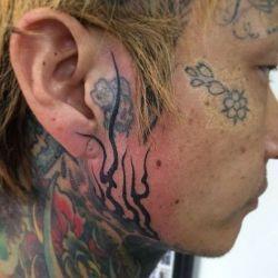 Татуировки на лице фото