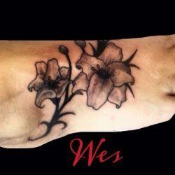 фотография татуировки на ступне