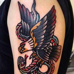 фото татуировки old school