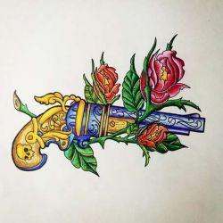 татуировки old school фото, эскиз