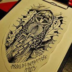 татуировки викингов фото, эскиз