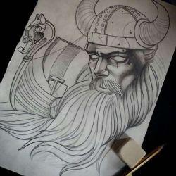 Тату викингов эскиз