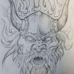 эскиз татуировки викингов