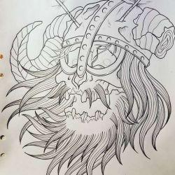 фото, эскиз татуировки викингов