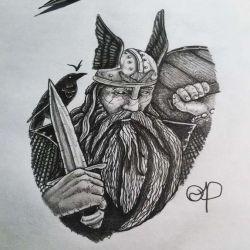 эскиз викингов