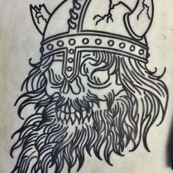 эскиз тату викингов
