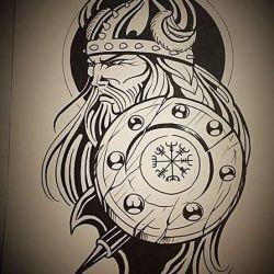 викингов фото, эскиз