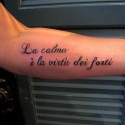 Татуировки на инталянском надписы