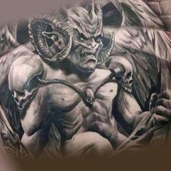 Татуировка демон - зов из преисподней