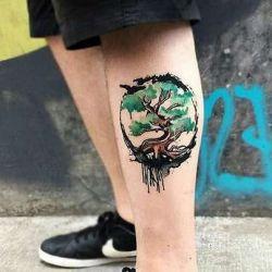 Татуировка дерево: сакральный смысл, пришедший из разных культур