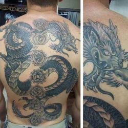 Какой должна быть татуировка дракон, фото, эскизы и значение символа