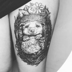 Татуировка ежик