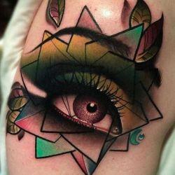 Татуировка глаз и ее особенности, значение, эскизы и фото