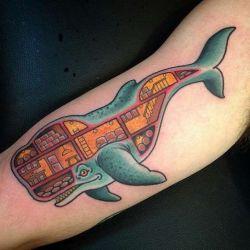 Татуировка кит и ее значение
