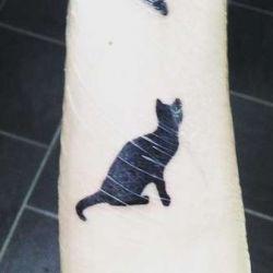 Татуировка кот: мистическое животное, ее значение