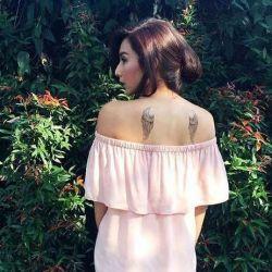 Уникальная татуировка крылья: значение и дизайн рисунка