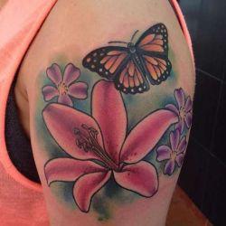 Татуировка в виде лилии, фотографии, эскизы и значение