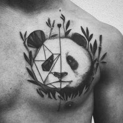 Татуировка в виде медвежонка панды и ее особенности