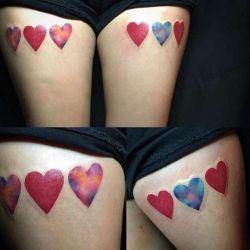 Татуировка сердце - любовная тематика в искусстве украшения тела