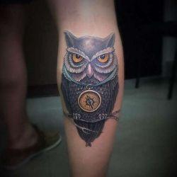 Какой может быть татуировка сова, фото, значение и эскизы