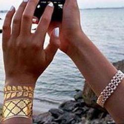 Что из себя представляют золотые татуировки?
