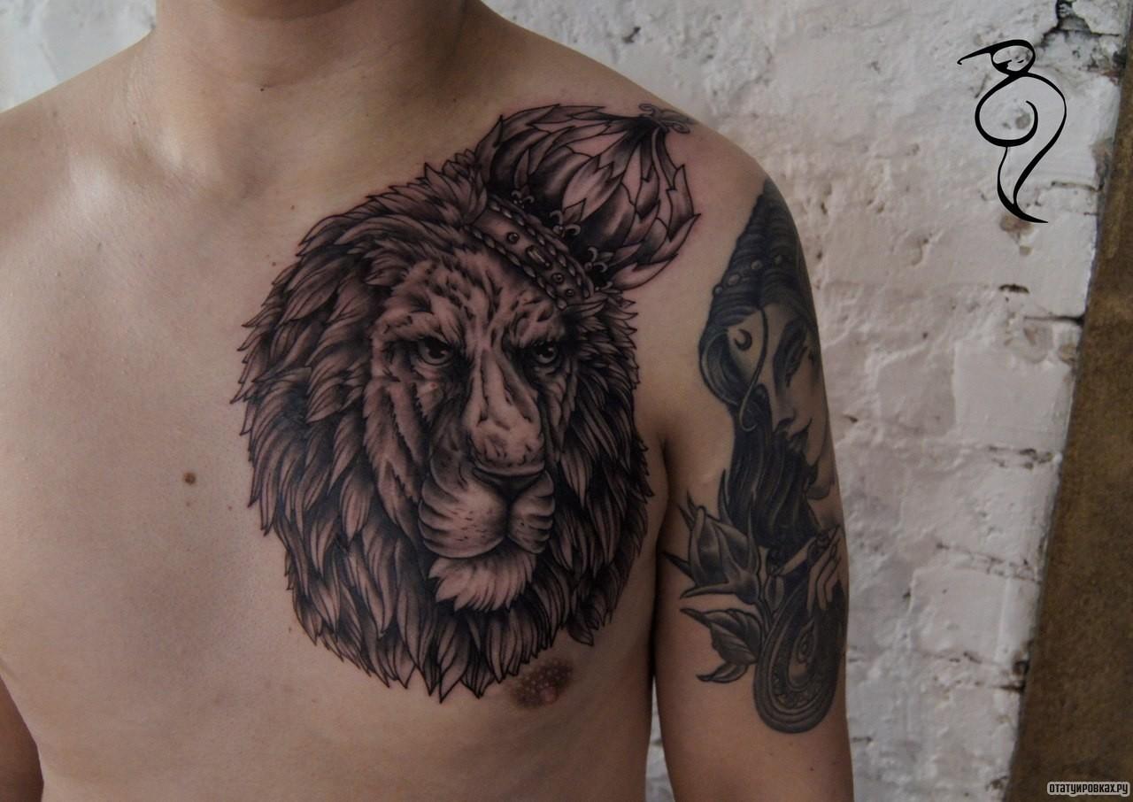 Фото тату львов в полный рост