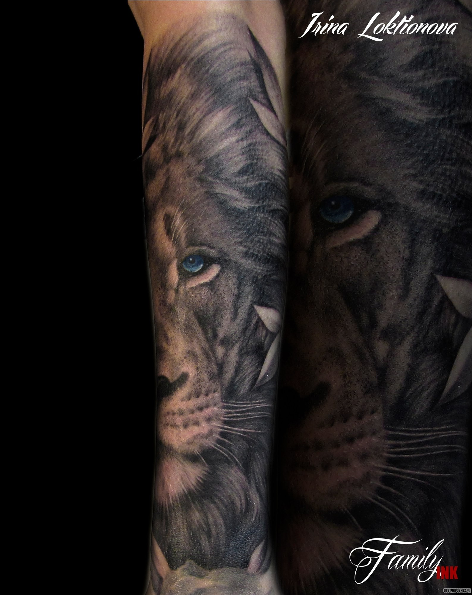 Тату с мордой льва фото