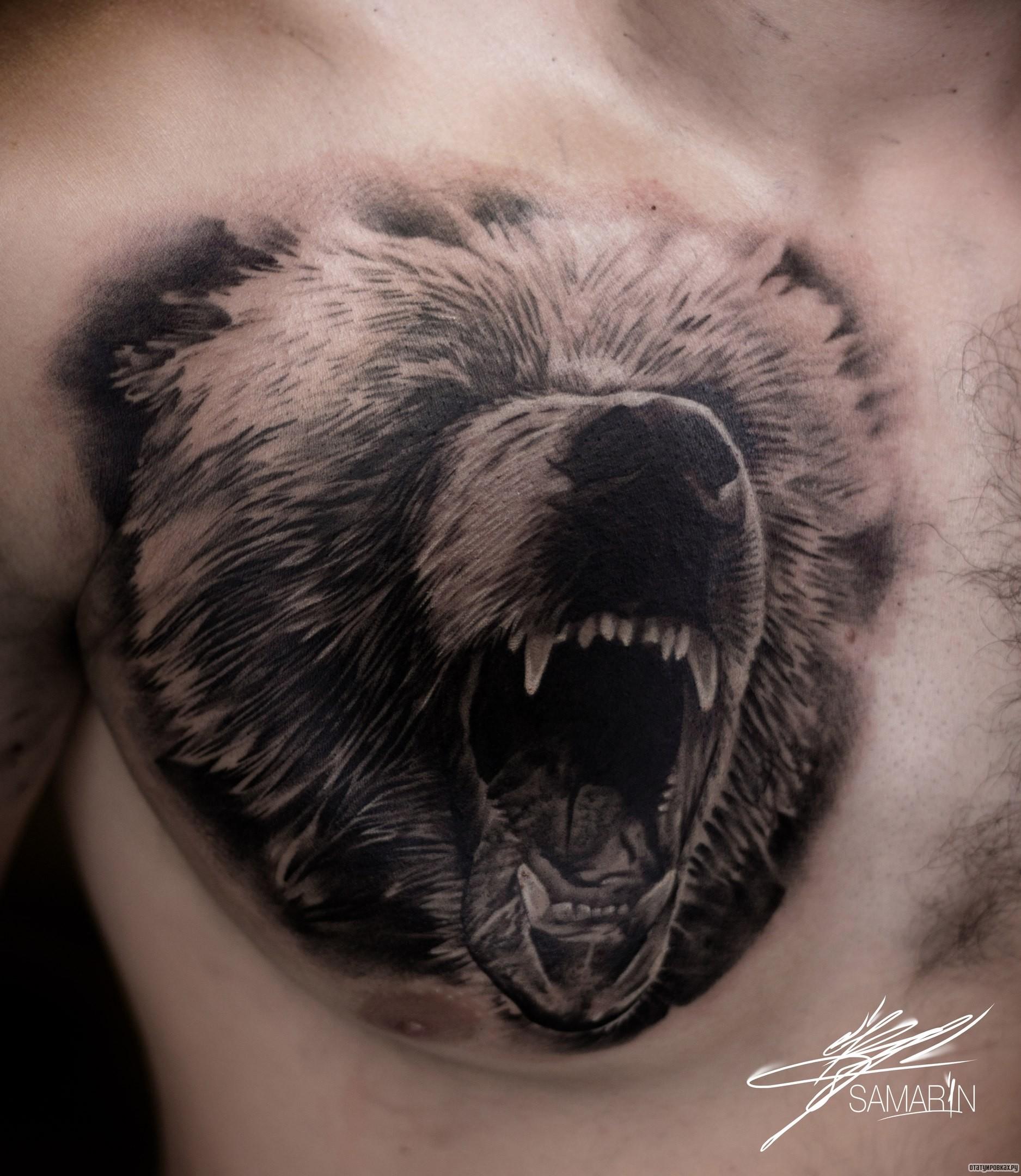 Фото тату волки медведи